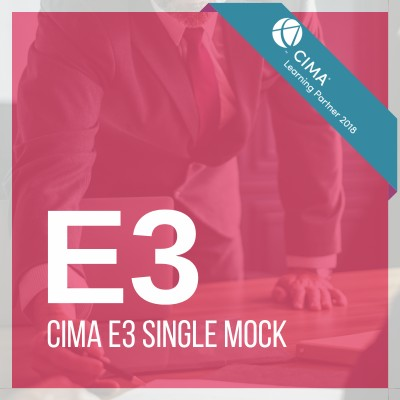 CIMA E3 Single Mock 2019